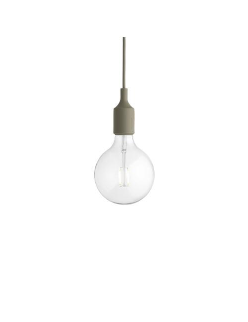 E27 LED Hanglamp met plafondkap | olijfgroen