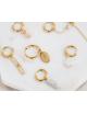 Oorbel Single Plain Chain Hoop | goud
