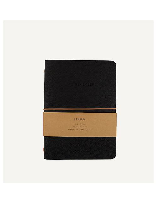 Notebook M | vegan leather/black