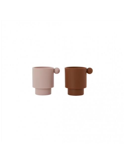 Tiny Inka Cup (set van 2) | caramel/rose