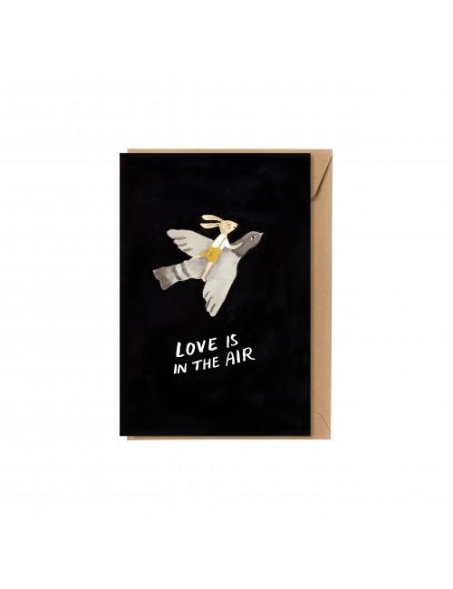 Wenskaart | love is in the air