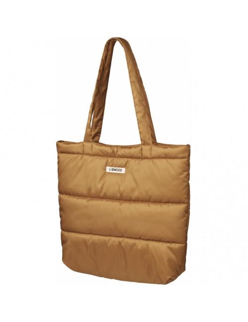 Constance Gewatteerde Tote Bag | golden caramel