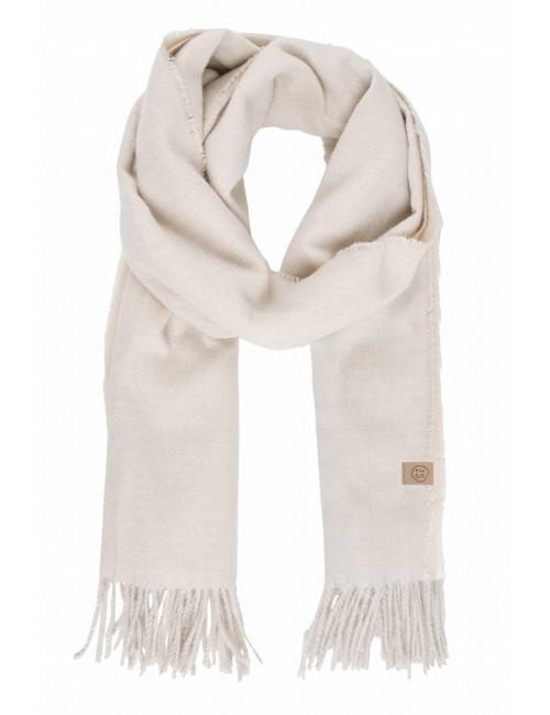 Basic Sjaal met Franjes | creme