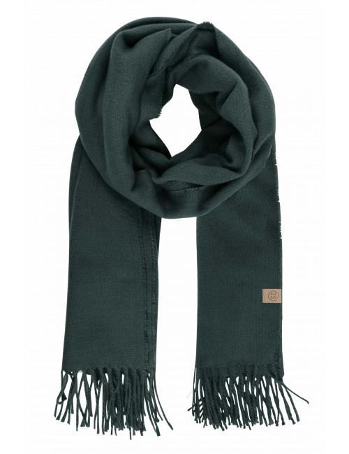 Basic Sjaal met Franjes   donkergroen