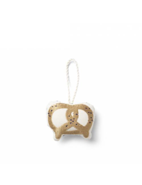Geborduurd Ornament   pretzel