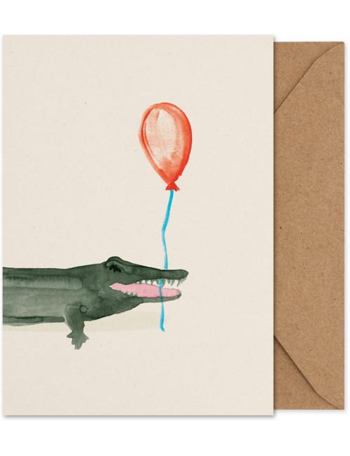 Artprint/wenskaart A5 | Coco de krokodil