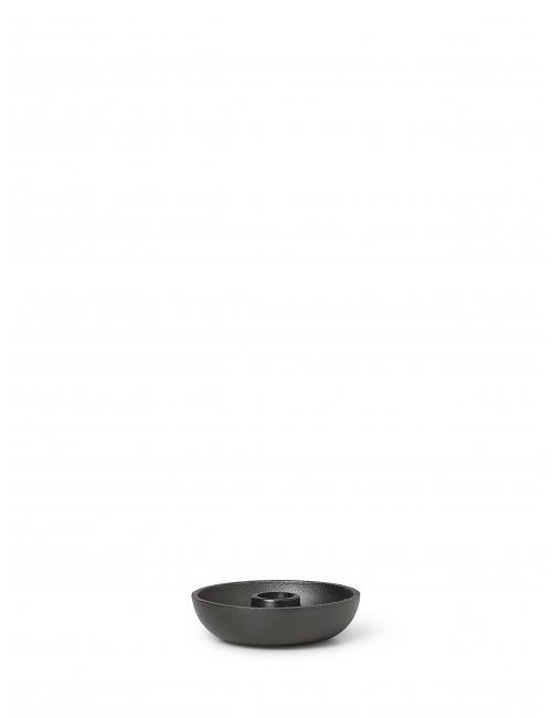 Kandelaar Bowl   zwart aluminium
