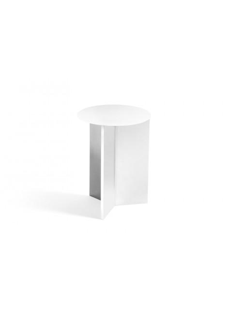 Slit Tafel Rond Hoog | Ø35 wit