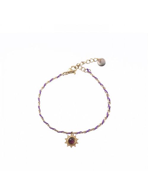 Armband 14K | dark purple combi