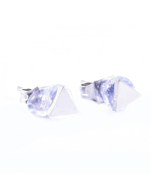 Oorbellen (set van 2) Zilver   driehoekje