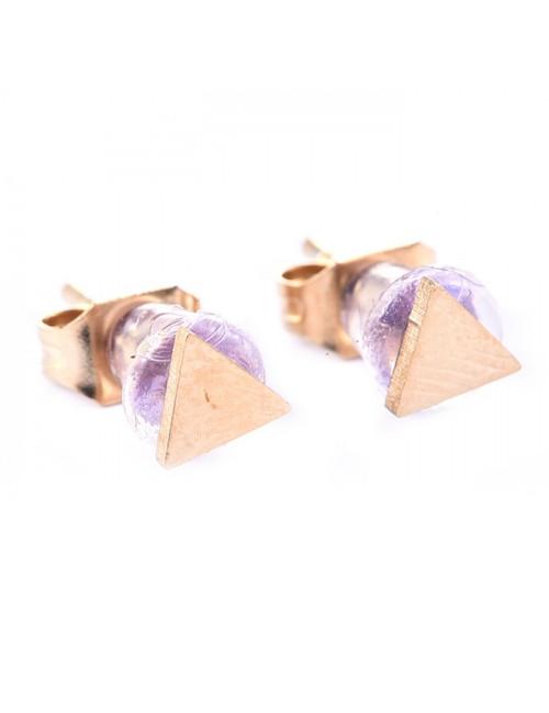 Oorbellen (set van 2) Goud 14K | driehoekje
