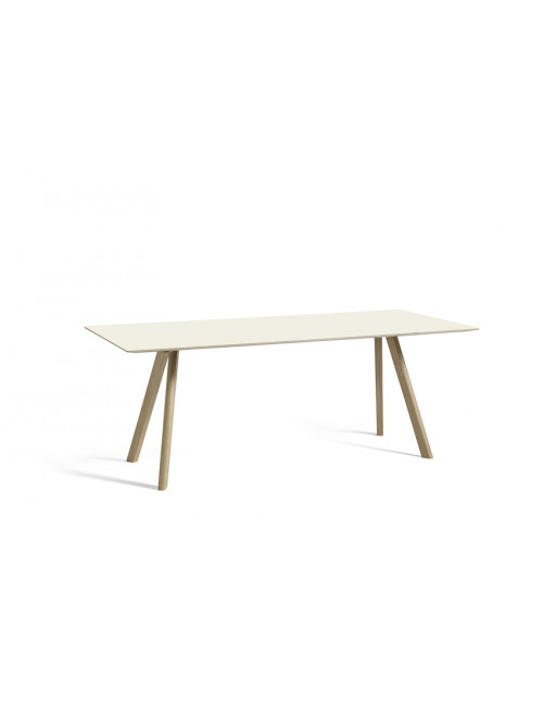 CPH 30 tafel L200 cm | gezeept eik/off-white linoleum