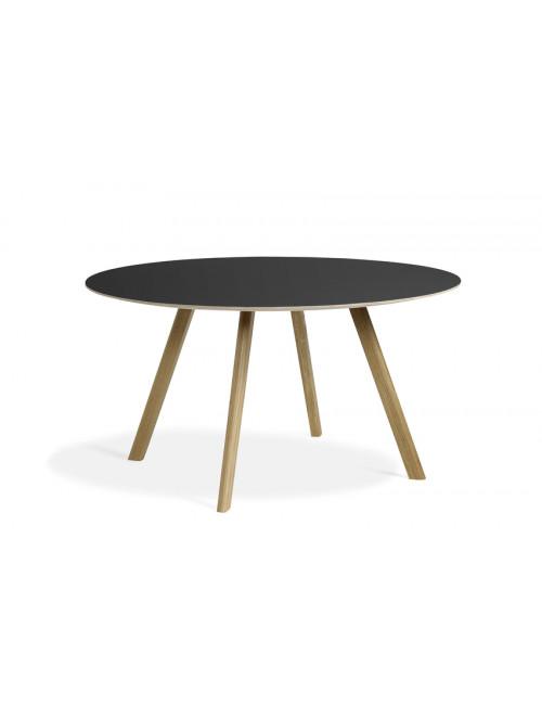CPH 25 tafel Ø140 | eik/zwarte linoleum
