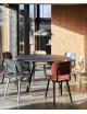 CPH 25 tafel Ø140 | zwarte eik/zwarte linoleum