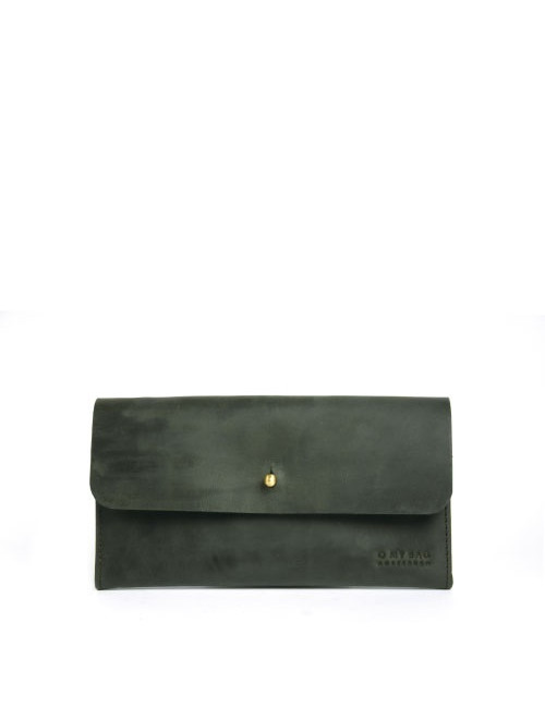 Portemonnee Pixies Pouch | green hunter leather
