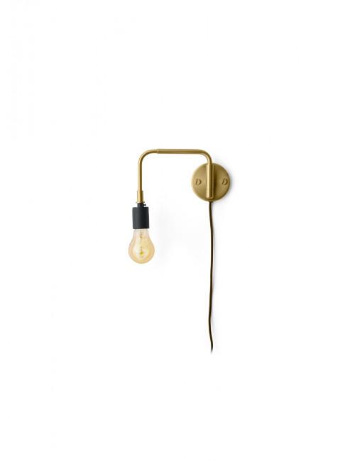 Staple Muurlamp | messing
