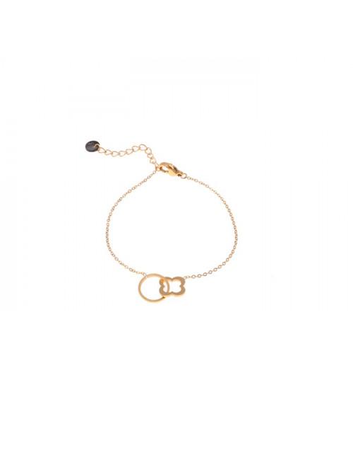 Bracelet 14k goud | circle & clover