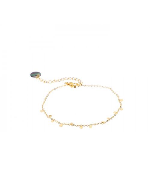 Bracelet 14k goud | small coins